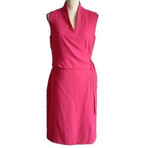 Jones New York deep pink dress with a wrap top